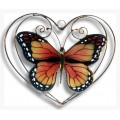 Monarch Butterfly in Heart