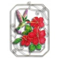 Hummingbird with Hibiscus in Rectangle