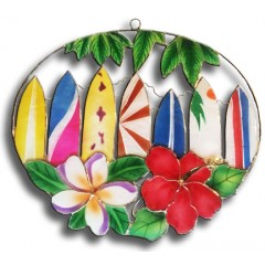 Surfboards with Flowers