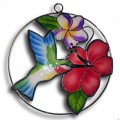 Hummingbird with Hibiscus and Plumeria - small