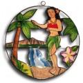 Palm Tree and Hula Girl