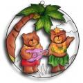 Palm Tree with Hula Bears