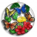 Butterflies and Hibiscus - large