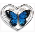 Blue Butterfly in Heart