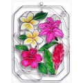 Tropical Flowers in Rectangle